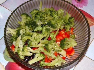 Легкий салатик с брокколи и креветками - брокколи.JPG