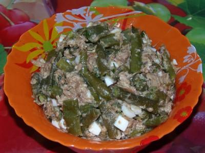 Салат с тунцом - Салат с тунцом и стручковой фасолью.JPG