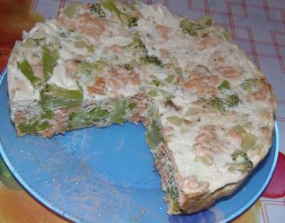 Запеканка с рыбой и брокколи - запеканка с горбушей и брокколи.JPG
