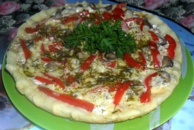 Пицца в мультиварке - пицца.JPG