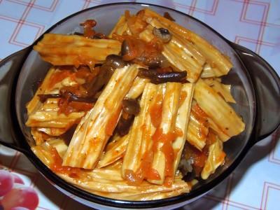 Соевая спаржа с кукурузой или фучжи - фучжи с овощами и грибами.JPG