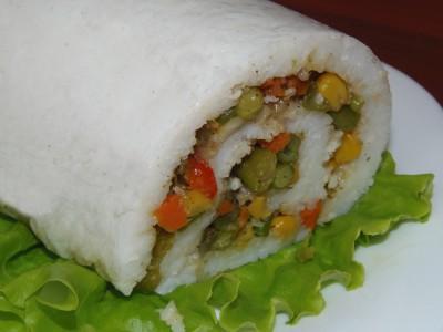Рисовый рулет с овощной начинкой - 1.JPG