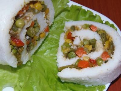 Рисовый рулет с овощной начинкой - 2.JPG