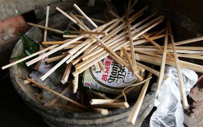 Китайцы будут вынуждены отказаться от традиционных палочек - discarded-chopstic_2507961b.jpg