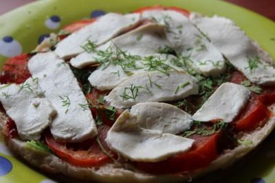 Пицца бутерброд, брускетта из тандырной лепешки на завтрак - IMG_0057.JPG