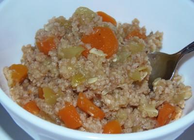 Теплый салат с соевым мясом и овощами - кабачки тушеные с соевым фаршем.JPG