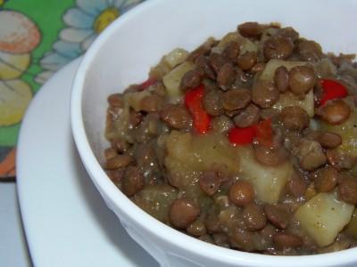 Овощной суп с зеленой чечевицей - Овощной суп с зеленой чечевицей.JPG