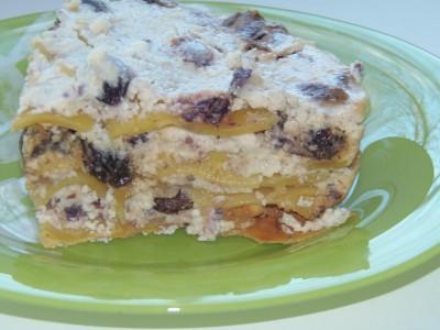 Десертная лазанья с творогом и изюмом - PA200079.JPG