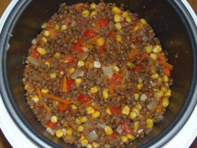 Овощной суп с зеленой чечевицей - PB120093.JPG