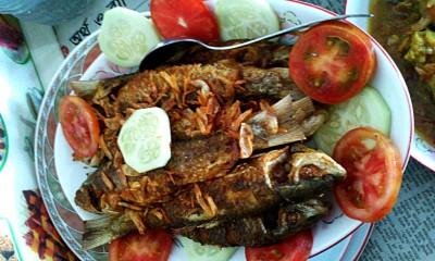 рыба жареная, остальные 2 вида увидела только во время еды - рыба жареная.jpg