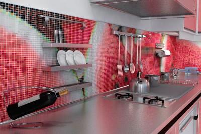 Фартук для кухни в виде мозаики - Фартук-мозаика.jpg