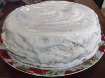 Шоколадный торт с абрикосовой прослойкой - DSCF2070.JPG