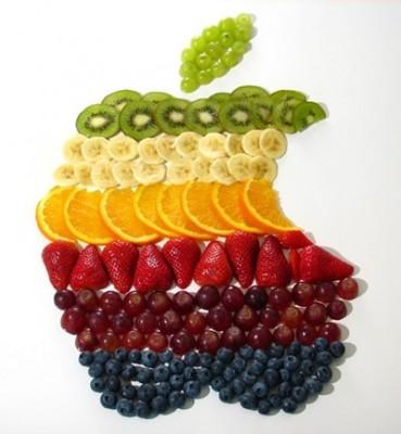 Детский праздничный стол - apple_logo_rainbow_fruit.jpg